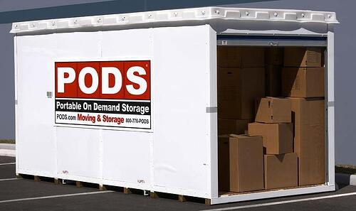 Storage Pods Are Self Containers One Is Brought To Your House And You Either Load It Yourself Or Hire A Crew Do This